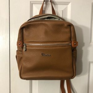Valentina made in Italy genuine leather backpack